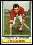 1974 Topps #29  John Zook  Front Thumbnail