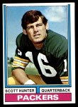 1974 Topps #31  Scott Hunter  Front Thumbnail