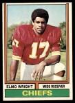 1974 Topps #34  Elmo Wright  Front Thumbnail