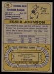 1974 Topps #35 ONE Essex Johnson  Back Thumbnail
