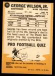 1967 Topps #76  George Wilson  Back Thumbnail