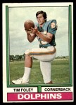 1974 Topps #38  Tim Foley  Front Thumbnail