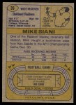 1974 Topps #39 ONE Mike Siani  Back Thumbnail