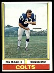 1974 Topps #43 ONE Don McCauley  Front Thumbnail