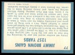 1961 Topps #77   -  Jim Brown 1960 Football Highlights Back Thumbnail