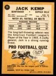 1967 Topps #24  Jack Kemp  Back Thumbnail