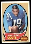1970 Topps #180  Johnny Unitas  Front Thumbnail