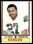 1974 Topps #47  Po James  Front Thumbnail