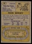 1974 Topps #56  Ron Widby  Back Thumbnail