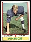 1974 Topps #57 ONE Milt Sunde  Front Thumbnail