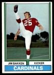 1974 Topps #60  Jim Bakken  Front Thumbnail