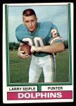 1974 Topps #66  Larry Seiple  Front Thumbnail