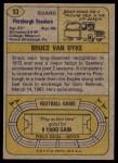 1974 Topps #93  Bruce Van Dyke  Back Thumbnail