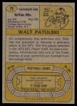 1974 Topps #79  Walt Patulski  Back Thumbnail