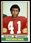 1974 Topps #84  Mike Bass  Front Thumbnail