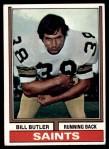 1974 Topps #118  Bill Butler  Front Thumbnail