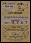 1974 Topps #120  Bobby Douglass  Back Thumbnail