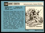 1964 Topps #134  Dave Costa  Back Thumbnail