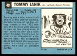1964 Topps #49  Tom Janik  Back Thumbnail