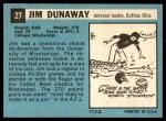 1964 Topps #27  Jim Dunaway  Back Thumbnail