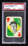 1951 Topps Blue Back #41  Johnny Schmitz    Front Thumbnail