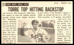 1964 Topps Giants #26  Joe Torre   Back Thumbnail