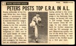 1964 Topps Giants #1  Gary Peters   Back Thumbnail