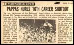 1964 Topps Giants #5  Milt Pappas   Back Thumbnail