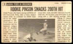 1964 Topps Giants #56  Vada Pinson   Back Thumbnail