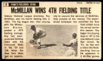 1964 Topps Giants #8  Roy McMillan   Back Thumbnail