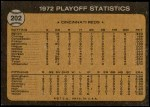 1973 Topps #202   -  George Foster / Pete Rose / Alex Grammas 1972 NL Playoffs - Foster's Run Decides It Back Thumbnail