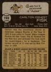 1973 Topps #193  Carlton Fisk  Back Thumbnail