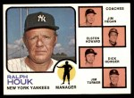 1973 Topps #116 ORG  -  Ralph Houk / Jim Hegan /  Elston Howard / Dick Howser / Jim Turner Yankees Leaders Front Thumbnail