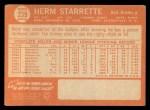 1964 Topps #239  Herm Starrette  Back Thumbnail