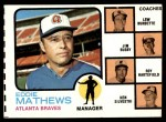 1973 Topps #237 ORG  -  Eddie Mathews / Lew Burdette / Jim Busby / Roy Hartsfield / Ken Silvestri Braves Leaders Front Thumbnail