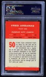 1963 Fleer #50  Fred Arbanas  Back Thumbnail
