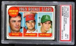 1969 Topps #597   -  Rollie Fingers / Bob Floyd / Larry Burchart AL Rookies Front Thumbnail