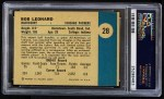 1961 Fleer #28  Bob Leonard  Back Thumbnail