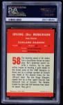 1963 Fleer #58  Bo Roberson  Back Thumbnail