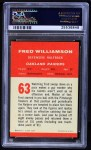 1963 Fleer #63  Fred Williamson  Back Thumbnail