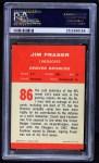 1963 Fleer #86  Jim Fraser  Back Thumbnail