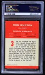 1963 Fleer #3  Ron Burton  Back Thumbnail