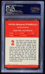 1963 Fleer #2  Babe Parilli  Back Thumbnail