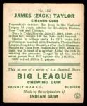 1933 Goudey #152  Zack Taylor  Back Thumbnail