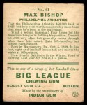 1933 Goudey #61  Max Bishop  Back Thumbnail