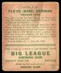 1933 Goudey #5  Babe Herman  Back Thumbnail