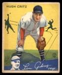 1934 Goudey #17  Hugh Critz  Front Thumbnail
