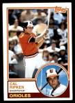 1983 Topps #163  Cal Ripken Jr.  Front Thumbnail