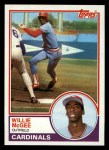 1983 Topps #49  Willie McGee  Front Thumbnail