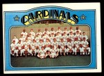 1972 Topps #688   Cardinals Team Front Thumbnail